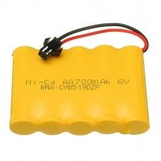 JJRC 6V 700mAh 5C Ni-cd Battery SM Plug for Q63 Q64 1/16 2.4G 6WD Rc Car