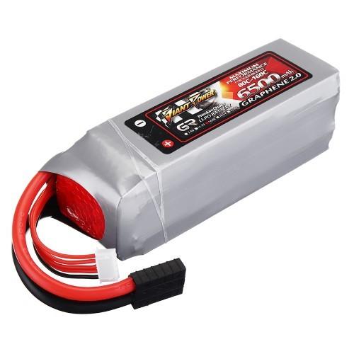 GIANT POWER GRAPHENE 2 0 14 8V 6500mah 80C 4S Lipo Battery for Traxxas 1:5  X-Maxx RC Car